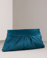 Louise Suede Clutch