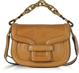 Pierre Hardy Camel Grainy Leather Mini AlphaVille Shoulder Bag