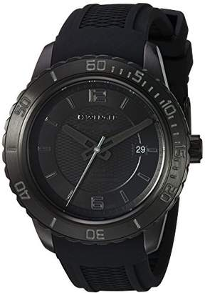Wenger Men's Roadster Black Night Stainless Steel Swiss-Quartz Watch with Silicone Strap