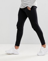 Asos Design DESIGN super skinny joggers in black