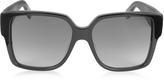 Saint Laurent SL M9 002 Large Black Square-Frame Acetate Unisex Sunglasses