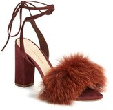 Loeffler Randall Women's 'Nicolette' Genuine Fox Fur Trim Sandal