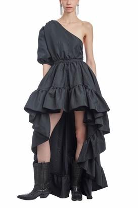 Amotea Black Tea Summer Moire Dress