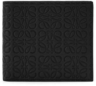 Loewe Logo Embossed Calfskin Leather Bifold Wallet