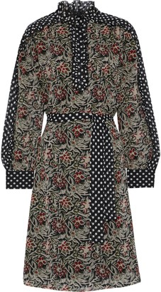 Antik Batik Balyna Ruffle-trimmed Printed Silk-chiffon Dress
