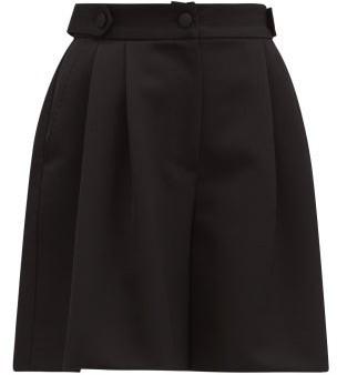 Dolce & Gabbana High-rise Tailored Wool-twill Shorts - Black