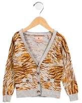 Scotch R'Belle Girls' Abstract V-Neck Cardigan