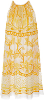 Naeem Khan Sleeveless Contrasting Embroidered Mini Dress