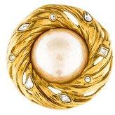 Saint Laurent Faux Pearl Convertible Brooch Pendant
