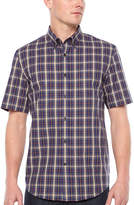 Big Mac Short Sleeve Plaid Button-Front Shirt