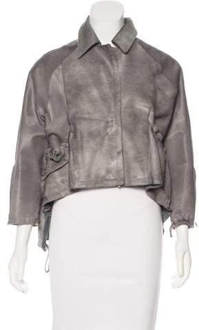 Kaufman Franco Kaufmanfranco Ponyhair High-Low Jacket