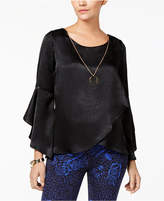 Thalia Sodi Ruffled Necklace Top, Created for Macy's