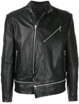 Julius leather zip jacket