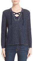 Brochu Walker Wool & Cashmere Lace-Up Sweater
