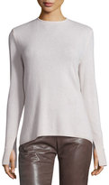 Halston Long-Sleeve Cowl-Back Cashmere Sweater