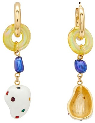 Mounser Form and Sun Earrings