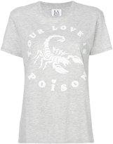 Zoe Karssen Your Love Is Poison T-shirt - women - Cotton/Polyester - M