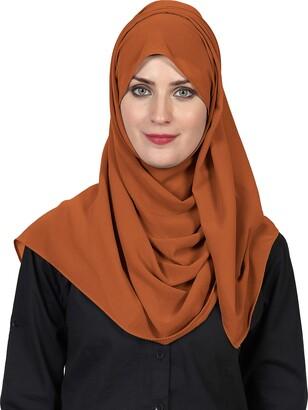 World Of Shawls World of Scarfs Soft Chiffon Hijab Scarves Shawls Wraps for Wedding Evening Party Special Occasions Big Size 85 x 180 Cms (Petrol Green)