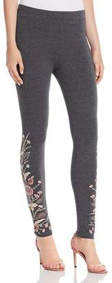 Johnny Was Rosa Embroidered Leggings
