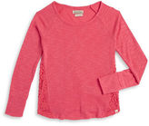 Lucky Brand Girls 7-16 Lace Trim Knit Top