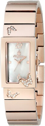 Burgmeister Perpignon Women's Quartz Watch with Mother of Pearl Dial Analogue Display and Rose Gold Bracelet BM527-488
