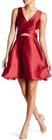Minuet Crossed V-Neck Flared Dress