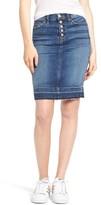 Hudson Women's Remi High Waist Released Hem Denim Pencil Skirt