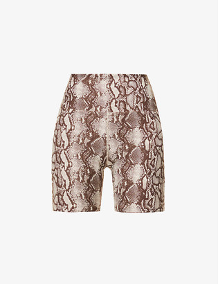 Lorna Jane Viper snakeskin-print stretch-jersey bike shorts