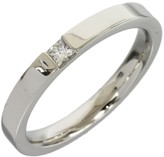 Harry Winston Platinum 0.01 Ct Princess Cut Diamond Size 7.5 Ring