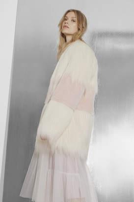 French Connection Melinda Mix Faux Fur Coat