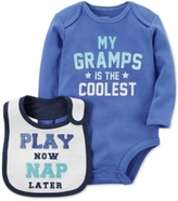 Carter's 2-Pc. Gramps Is The Coolest Cotton Bodysuit & Bib Set, Baby Boys (0-24 months)