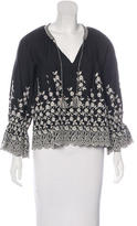 Ulla Johnson Floral Embroidered Oversize Top w/ Tags