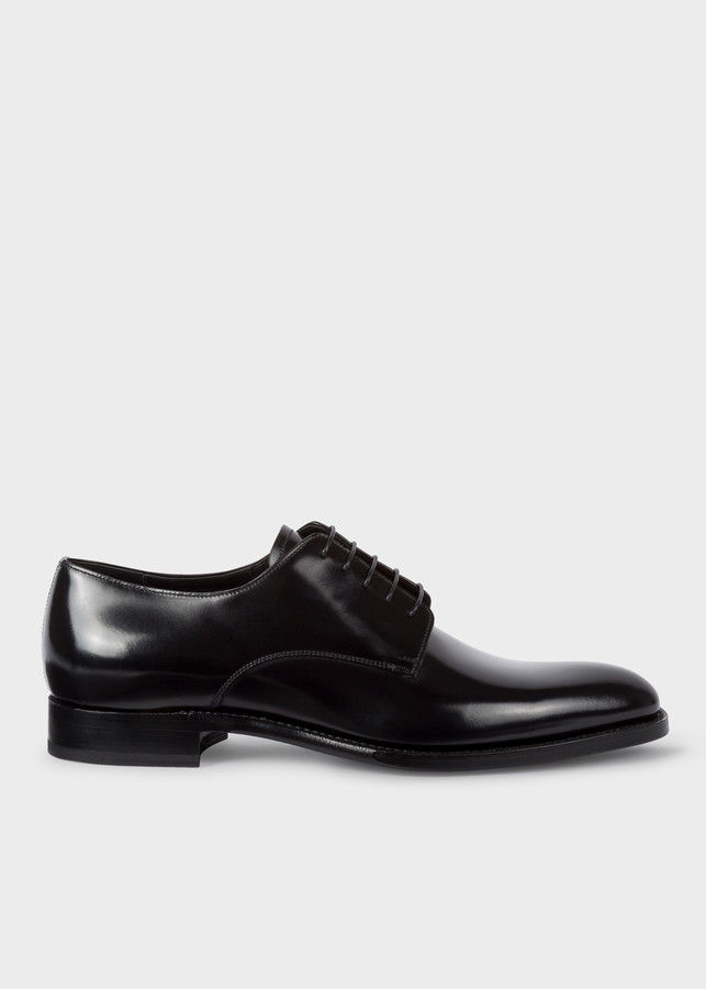 Paul Smith Men's Black Calf Leather 'Portland' Derby Shoes