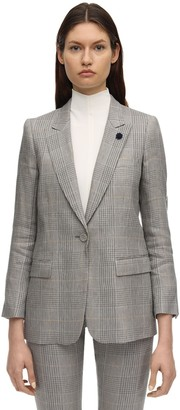 Lardini Ghiso.u Double Breast Linen Blend Jacket