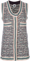 M Missoni sleeveless cardigan - women - Viscose/Wool/Metallic Fibre - S