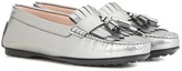 Tod's City Gommino Suede And Patent Leather Loafers