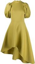 Beaufille asymmetric flared dress