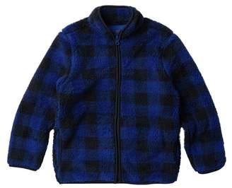 Joe Fresh Plaid Faux Shearling Jacket (Big Boys)