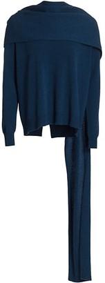 Halston Monica Wrap Drape Sweater