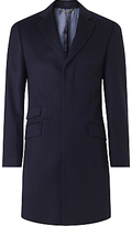 John Lewis Wool Cashmere Tailored Fit Coat, Navy