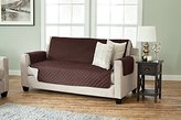 Deluxe Reversible Quilted Furniture Protector. Two Fresh Looks in One. By Home Fashion Designs. (Sofa - Chocolate / Flax)