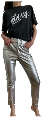 Etoile Isabel Marant Metallic Leather Trousers