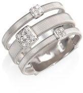 Marco Bicego Masai Diamond & 18K White Gold Station Ring
