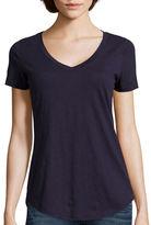 STYLUS Stylus Relaxed Fit Slub V-Neck T-Shirt