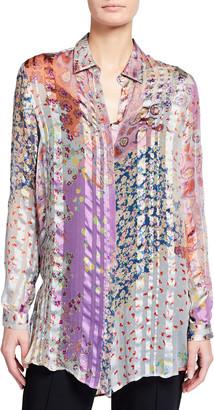 Etro Mixed Print Sheer Silk Tunic