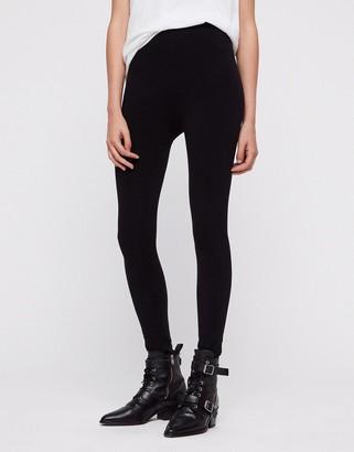 AllSaints Bri high rise leggings in black