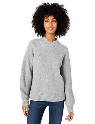 Goodthreads Boucle Half-cardigan Stitch Balloon-sleeve SweaterXS