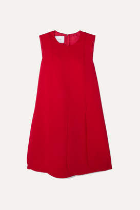 Valentino Pleated Silk-crepe Mini Dress - Red