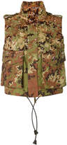 DSQUARED2 camouflage sequined gilet