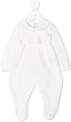 Miss Blumarine Crystal-Embellished Scalloped-Trim Pajama